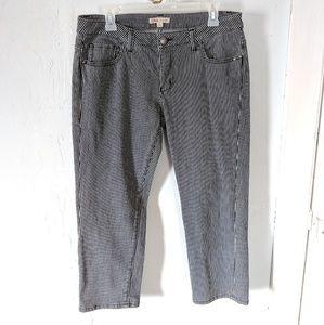 CAbi Jeans Style#324 Sz 8 Cropped Striped Railroad